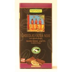 Tablette de chocolat biologique extra noir 70%