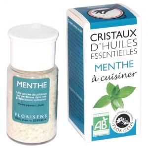 Cristaux d'huiles essentielles Bio Menthe Florisens